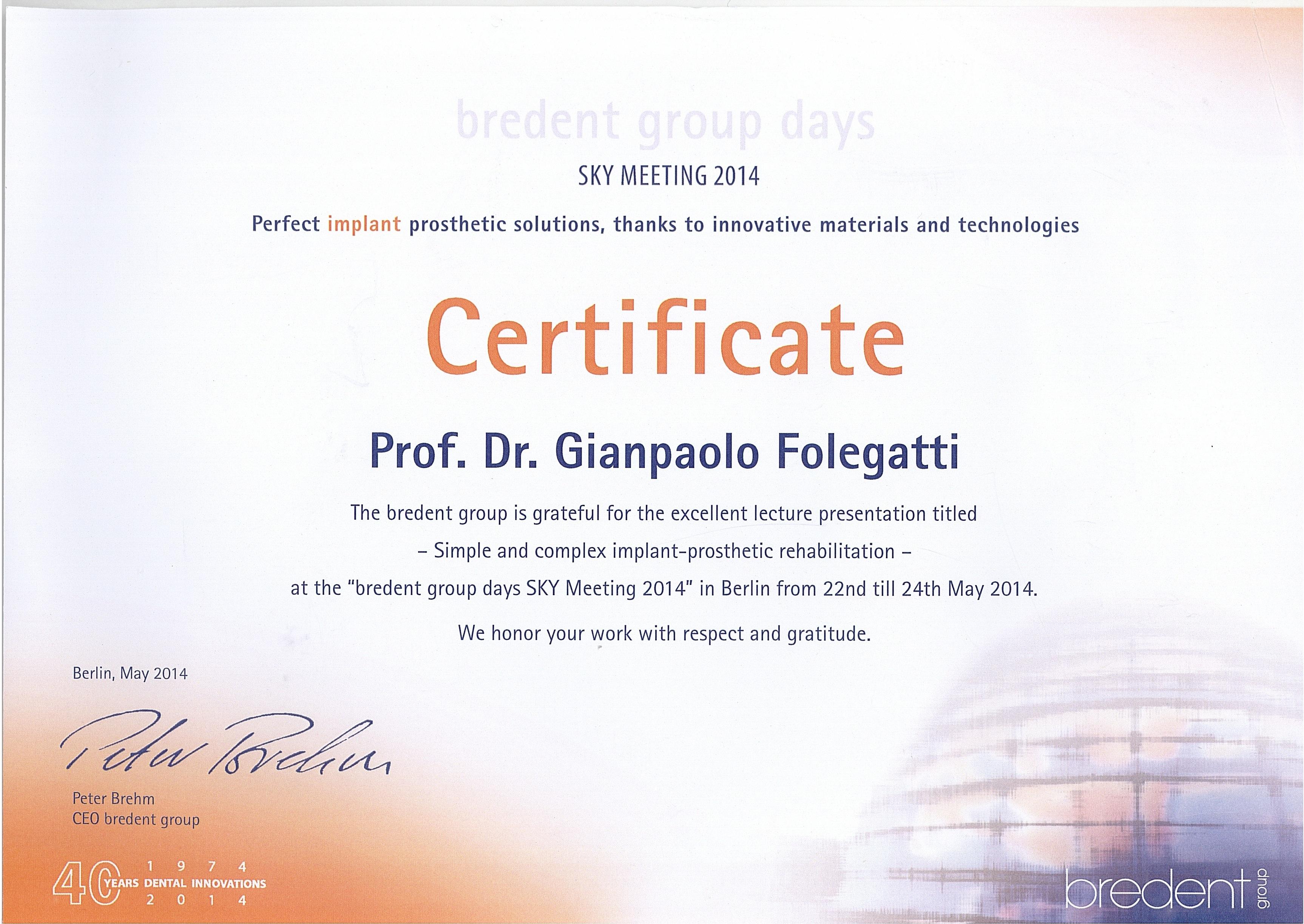 BREDENT DR. FOLE